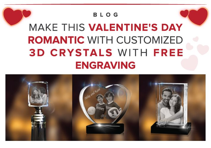 3D crystals with free engraving