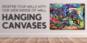 Hanging canvases