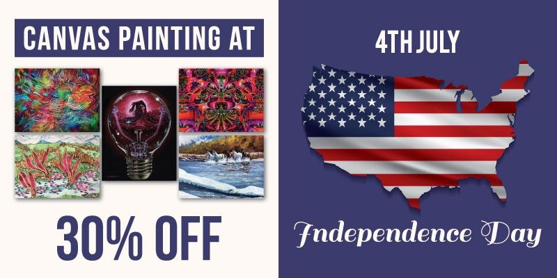 Independence Day Canvas Painting